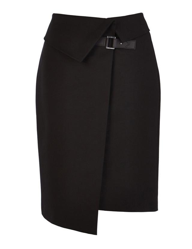 Karen Miller Asymmetric Wrap Skirt