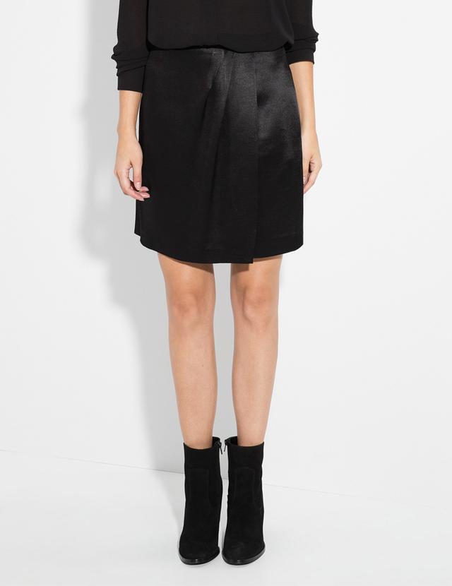 Mango Satin Wrap Skirt