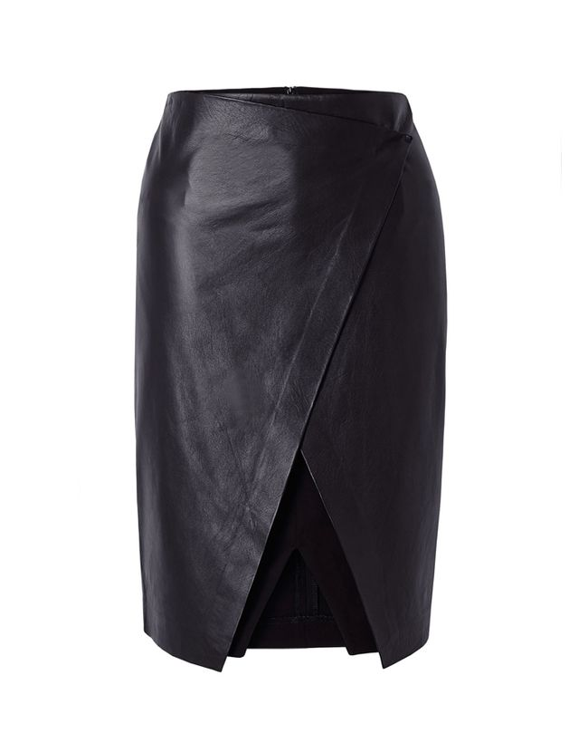 Theory Derion Lightweight Leather Skirt