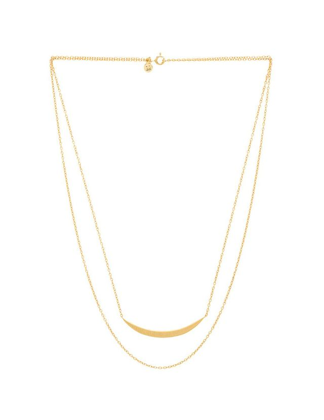 Gorjana Crescent Layered Necklace