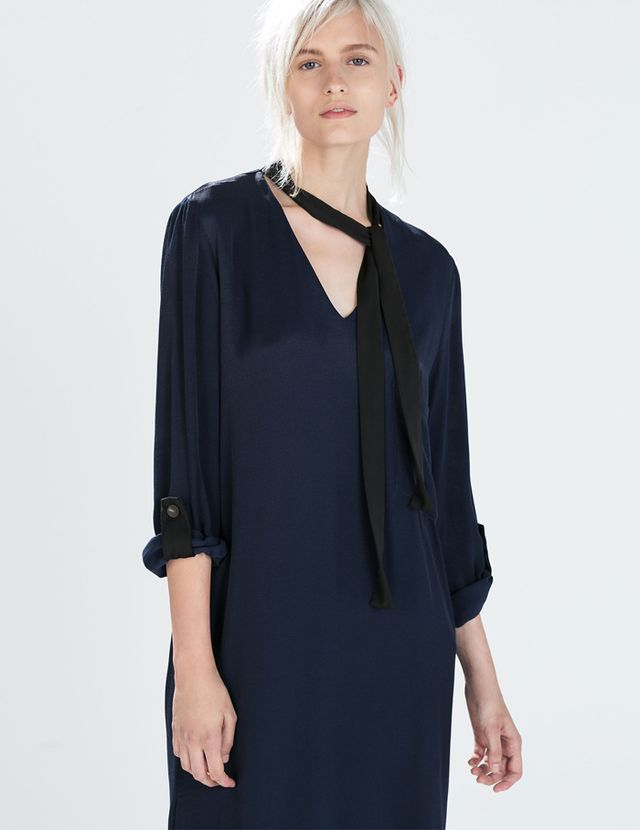Zara Constrast Tie Tunic