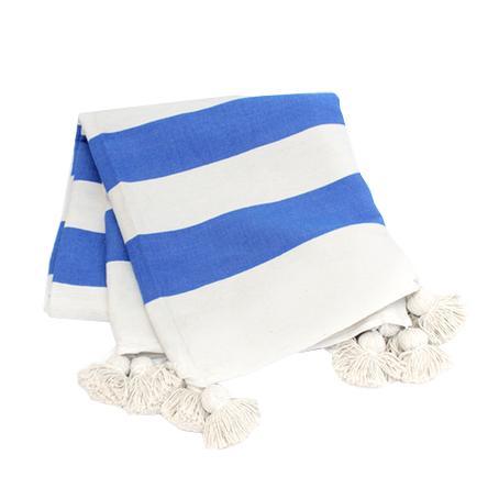 Nickey Kehoe Moroccan Pom Pom Throw Blanket