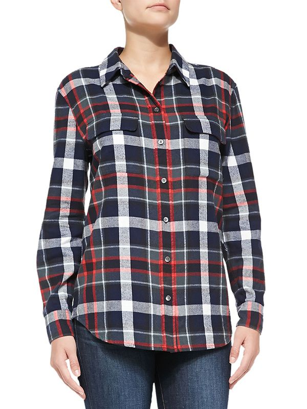 Equipment Signature Plaid Flannel Shirt