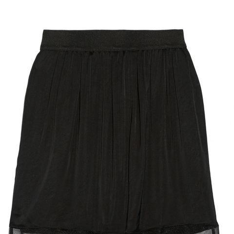 Satin Chiffon and Lace Skirt