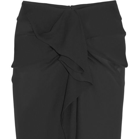 Huston Ruffled Silk-Georgette Skirt