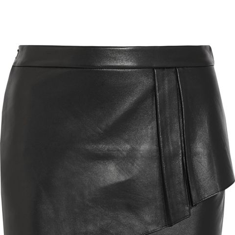 Gaia Layered Leather Mini Skirt