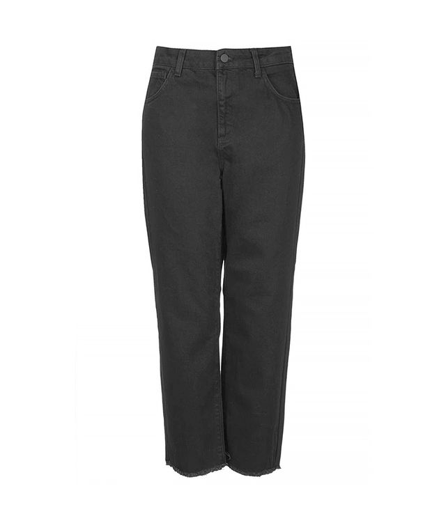Topshop Fray Straight Leg Jeans