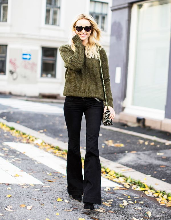 """I would like to see her wearing a higher-cut sweater with more coverage, some nice slacks, and low heels."" — Lorraine"
