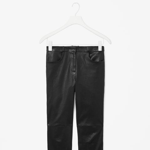 Slim Leather Trousers