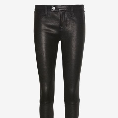 Jamie Tab Front Leather Pant