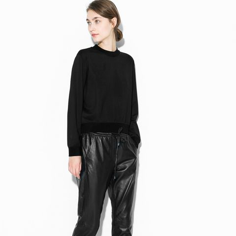 Straight-Fit Leather Trousers
