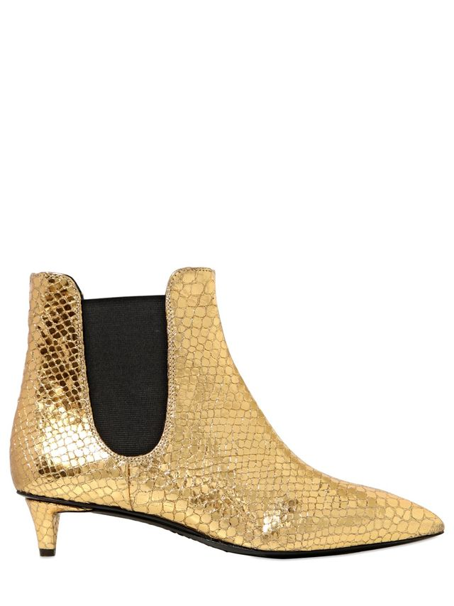 Giuseppe Zanotti Python Printed Leather Ankle Boots