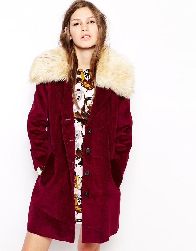 Antipodium Beagle Coat with Faux Fur Collar