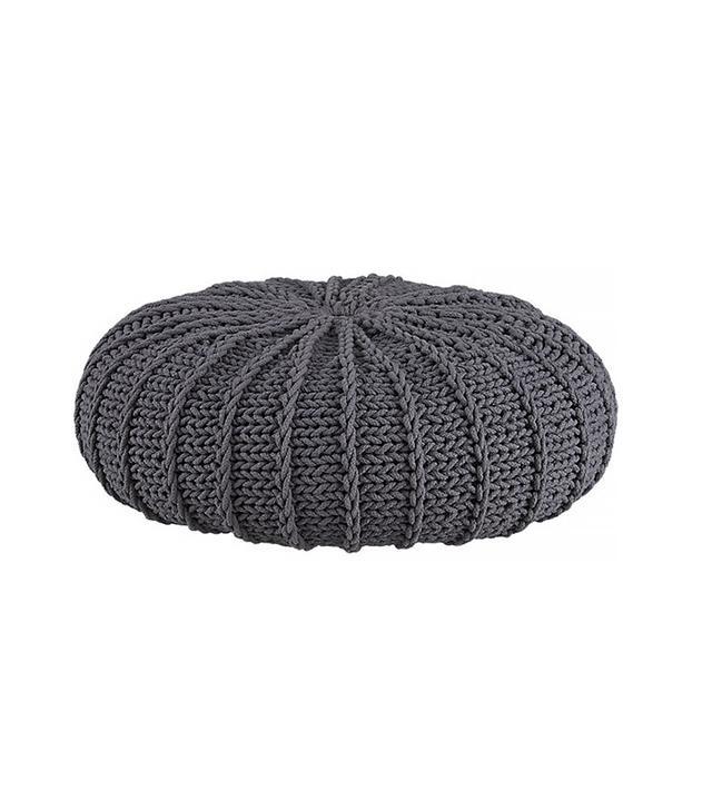 CB2 Jumbo Knit Shale Pouf