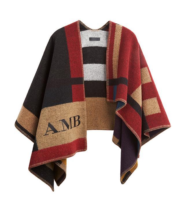 Burberry Colour Block Check Blanket Poncho