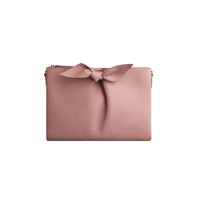 Burberry Knot-Detail Grainy Leather Clutch Bag