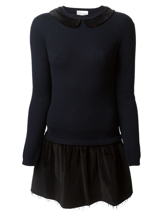 Red Valentino Collared Sweater Dress