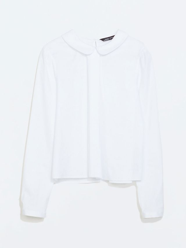 Zara Blouse with Peter Pan Collar