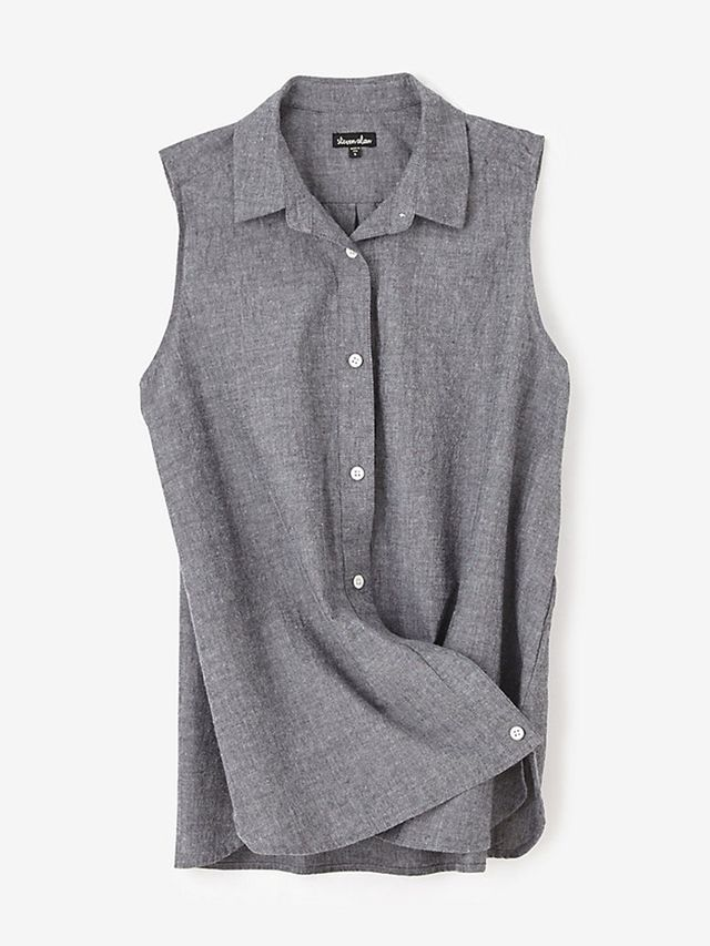 Steven Alan leeveless Crossover Shirt
