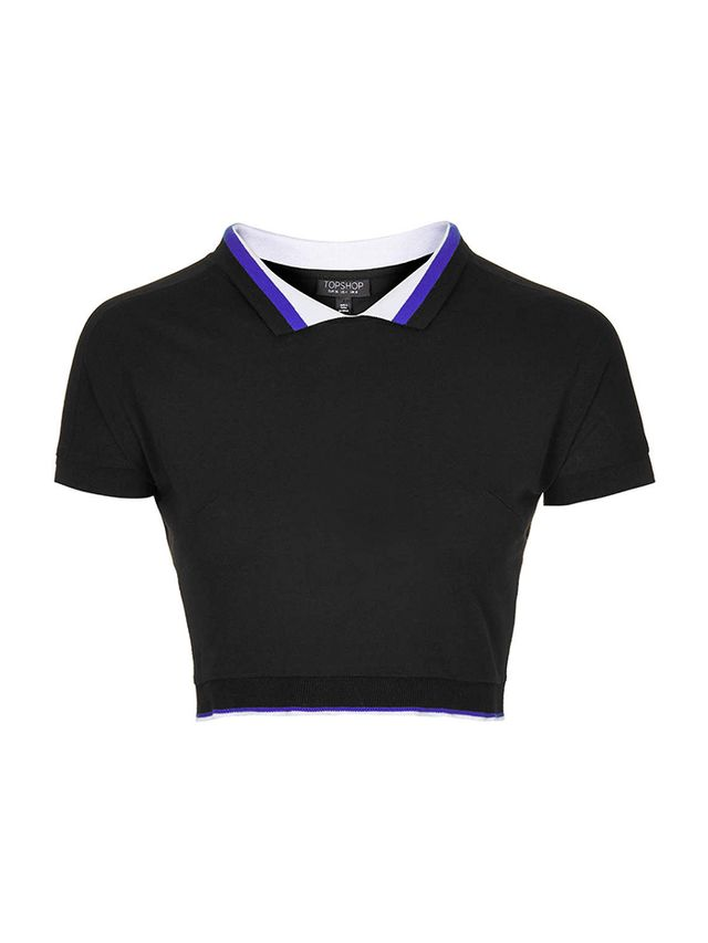 topshop Plain Polo Sports Tee