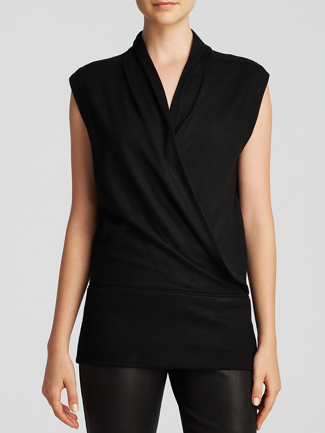 Helmut Lang Sonar Sleeveless Wool Top
