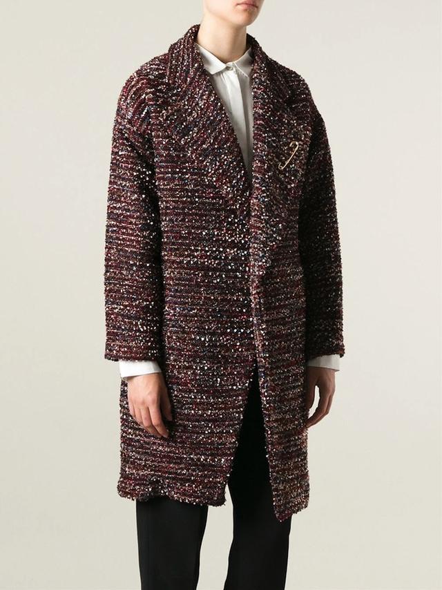 Nineminutes Bouclé Knit Coat