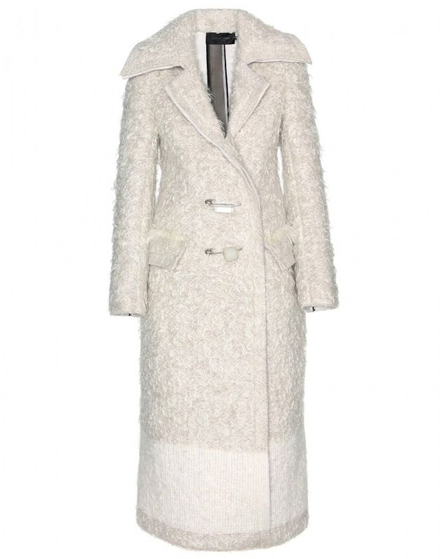 Calvin Klein Collection Arlor Mohair and Cashmere Coat