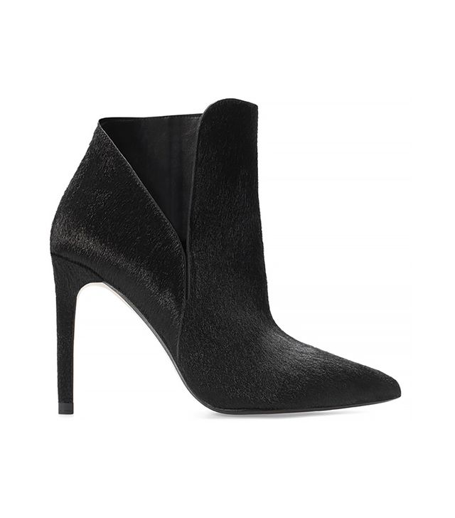 Zara Leather High Heel Bootie