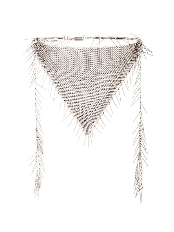 Isabel Marant Linares Mesh Chain Necklace