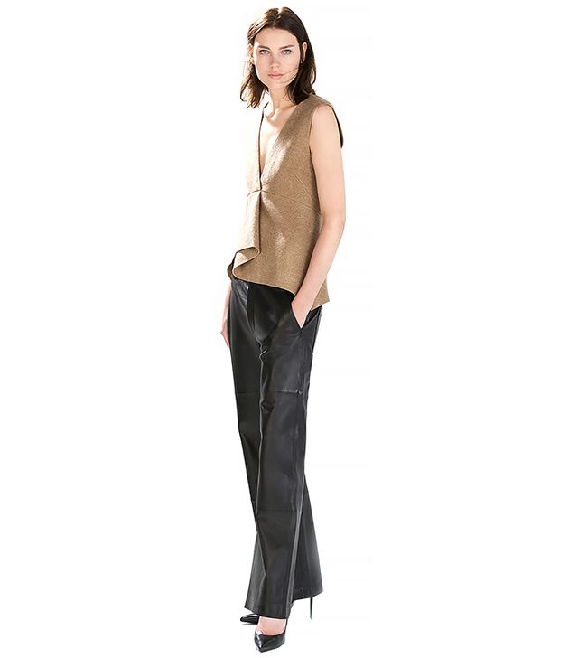 Zara Studio Wide Leather Trousers