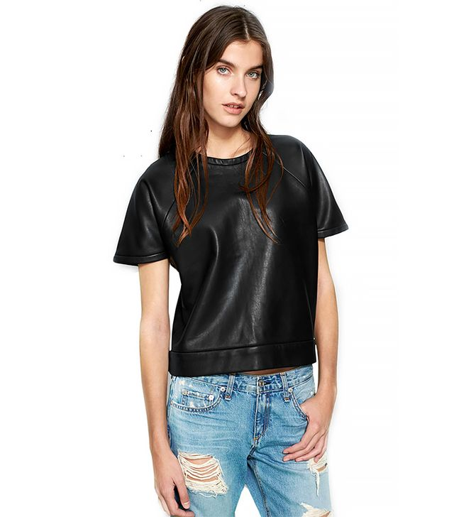Rag & Bone Rocky Leather Top