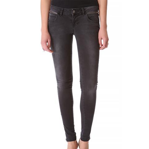 Double Zip Skinny Jeans