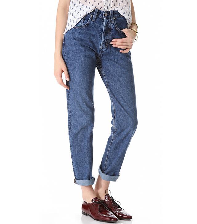 MiH MiH Halsy Straight Leg Jean in Cherry