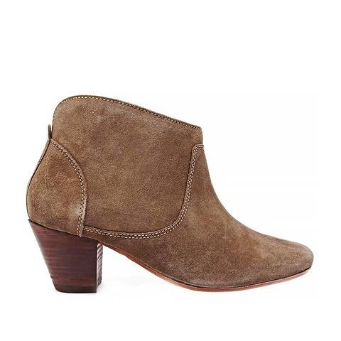 Kivar Beige Suede Ankle Boots