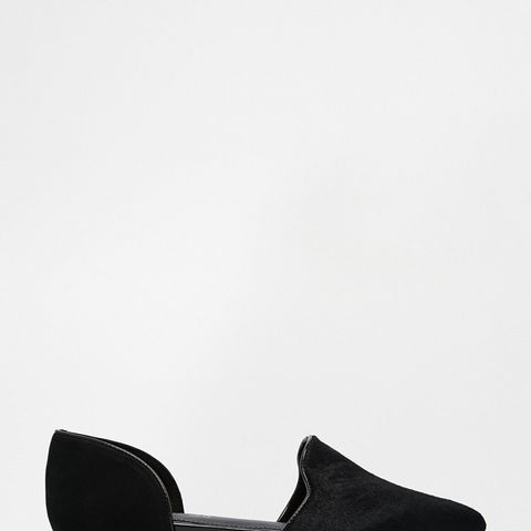 Nepean Black Pony Effect Two Part Flats