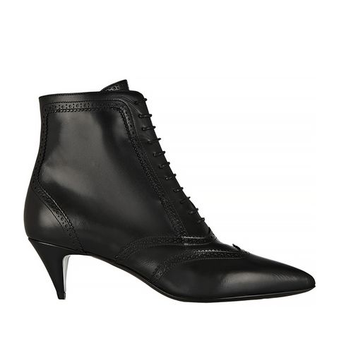 Cat Brogue-Style Leather Ankle Boots