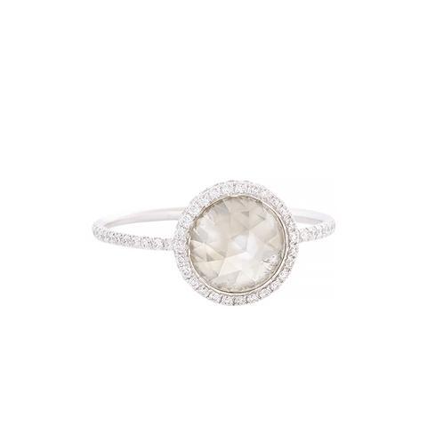 Grey Diamond, Pavé Diamond & Platinum Ring