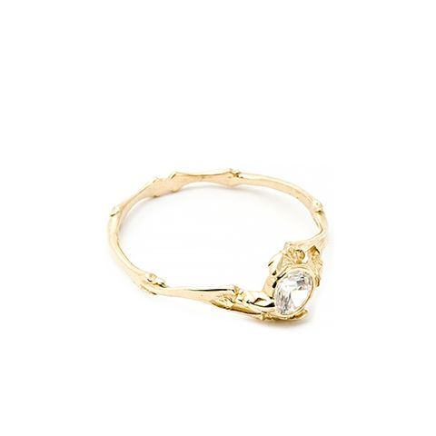Twig Ring with Brilliant Diamond