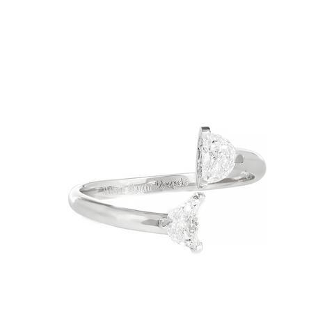 Solitair 18 karat White Gold Diamond Ring
