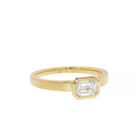 Bezel Set Diamond Solitaire