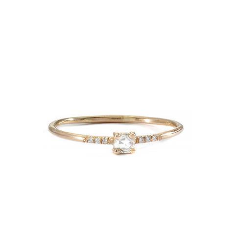 18K Pronged Ring