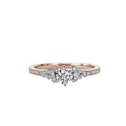 Diamond Solitaire Cluster Ring