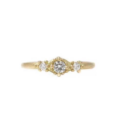 Ariel Ring with Three Diamonds