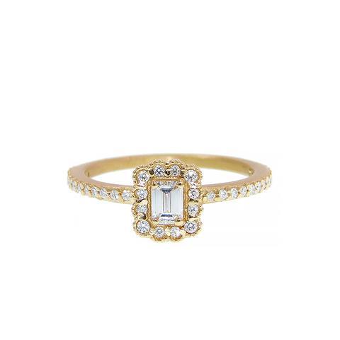 Mosaic Emerald Cut Ring