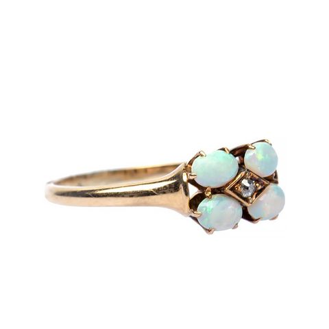 Lovely Victorian Opal Diamond Ring