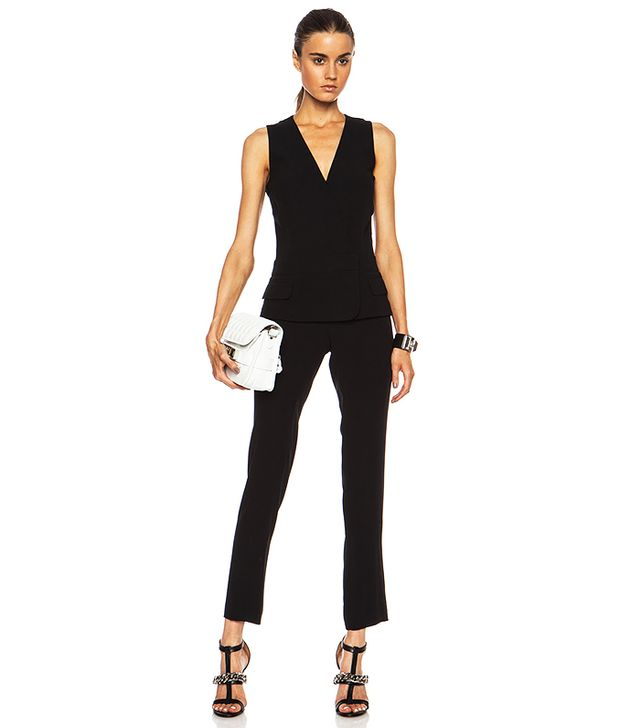 A.L.C. Mae Viscose-Blend Jumpsuit in Black