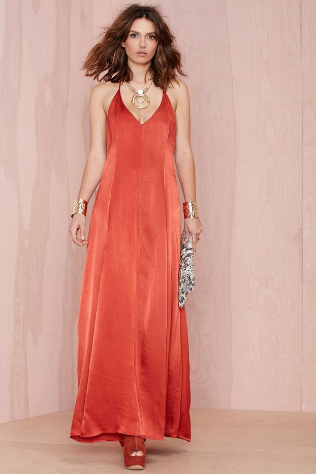 Nasty Gal After Party Vintage Dream On Maxi Dress