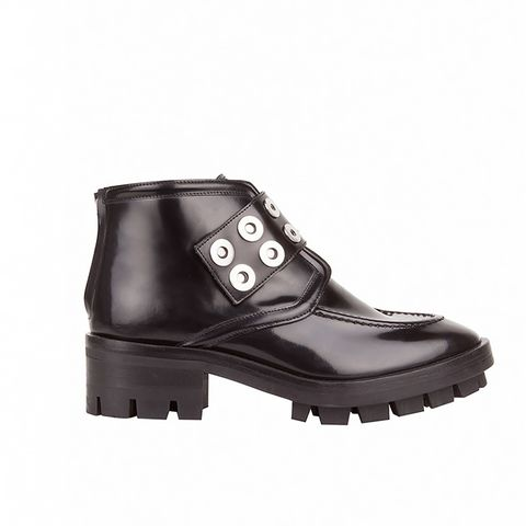 Annelie Snap Rivet Leather Boots