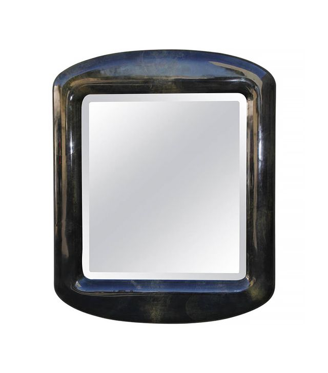 Karl Springer Monumental Lacquered Goatskin Mirror