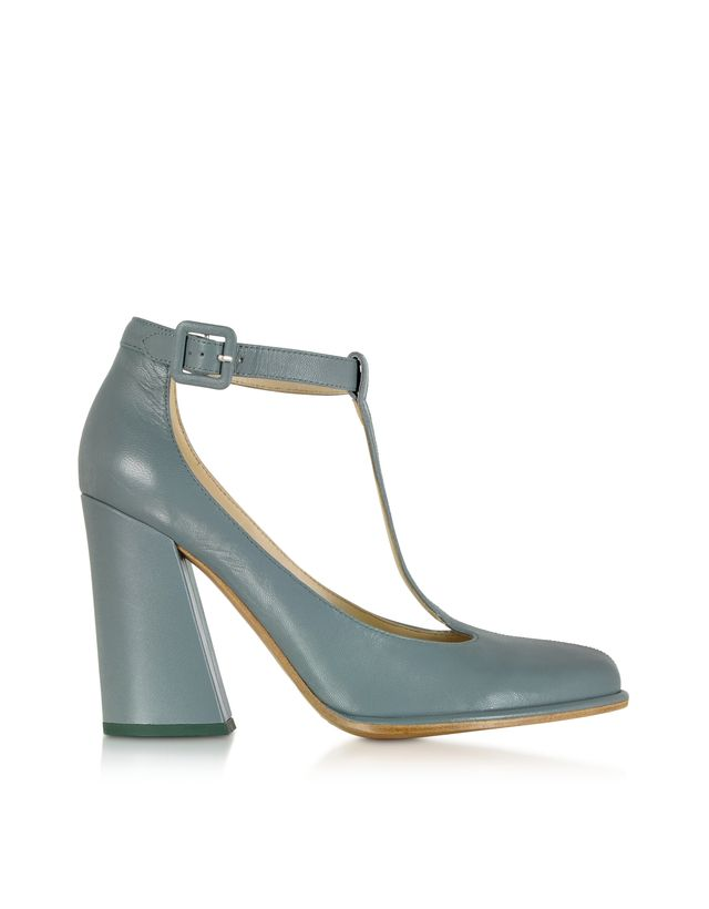 See by Chloé Light Blue T-bar Pump
